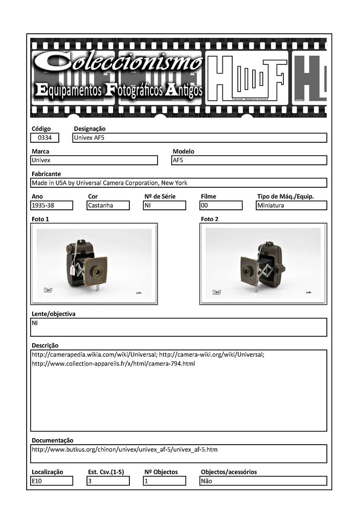 Inventariação da colecção_0334 Univex AF5