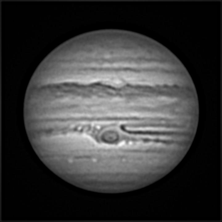 木星 (2019/6/13 22:07) (グレースケール化→TIFF保存→wavelet)