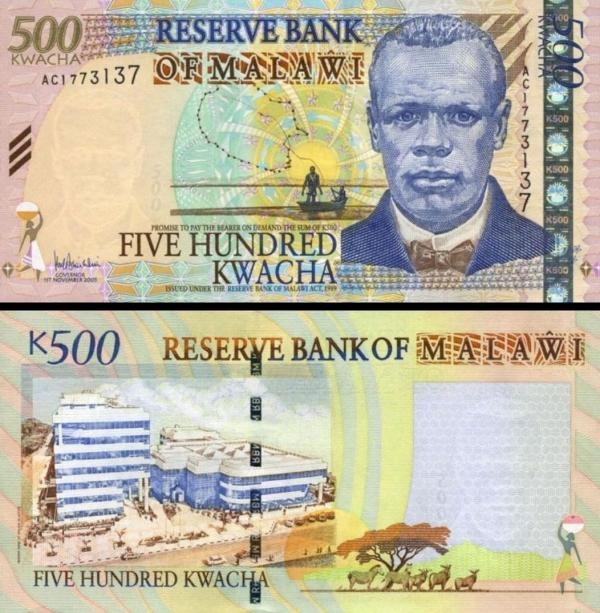 500 Kwacha Malawi 2005, P56a