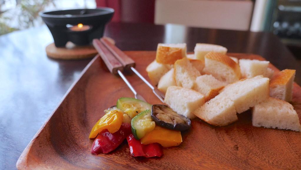 シェフのチーズフォンデュ夏野菜スペシャル