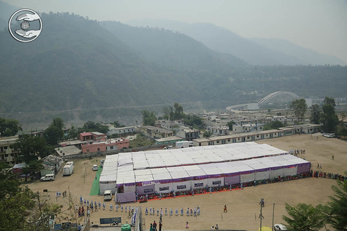 An Arial view of Satsang Pandal