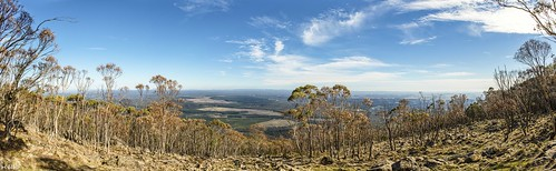 mountmacedon mtmacedon mtmacedonmemorialcross winter mountain mountains tree trees view panorama