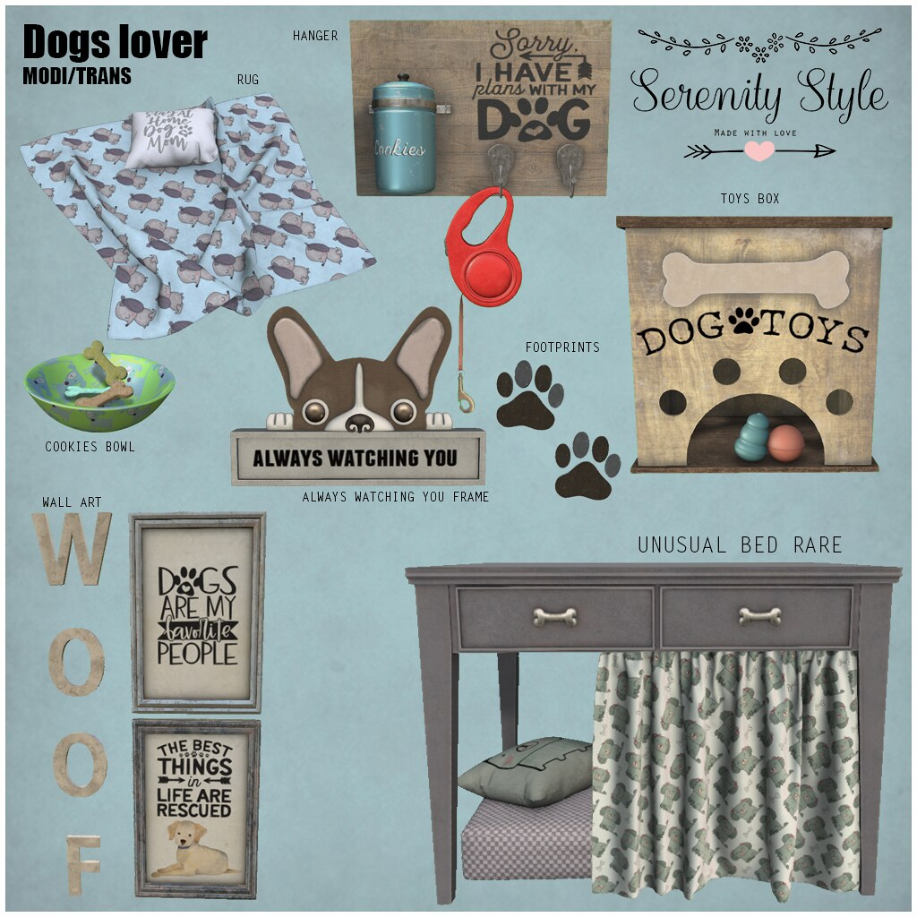Serenity Style- Dogs Lover Collection