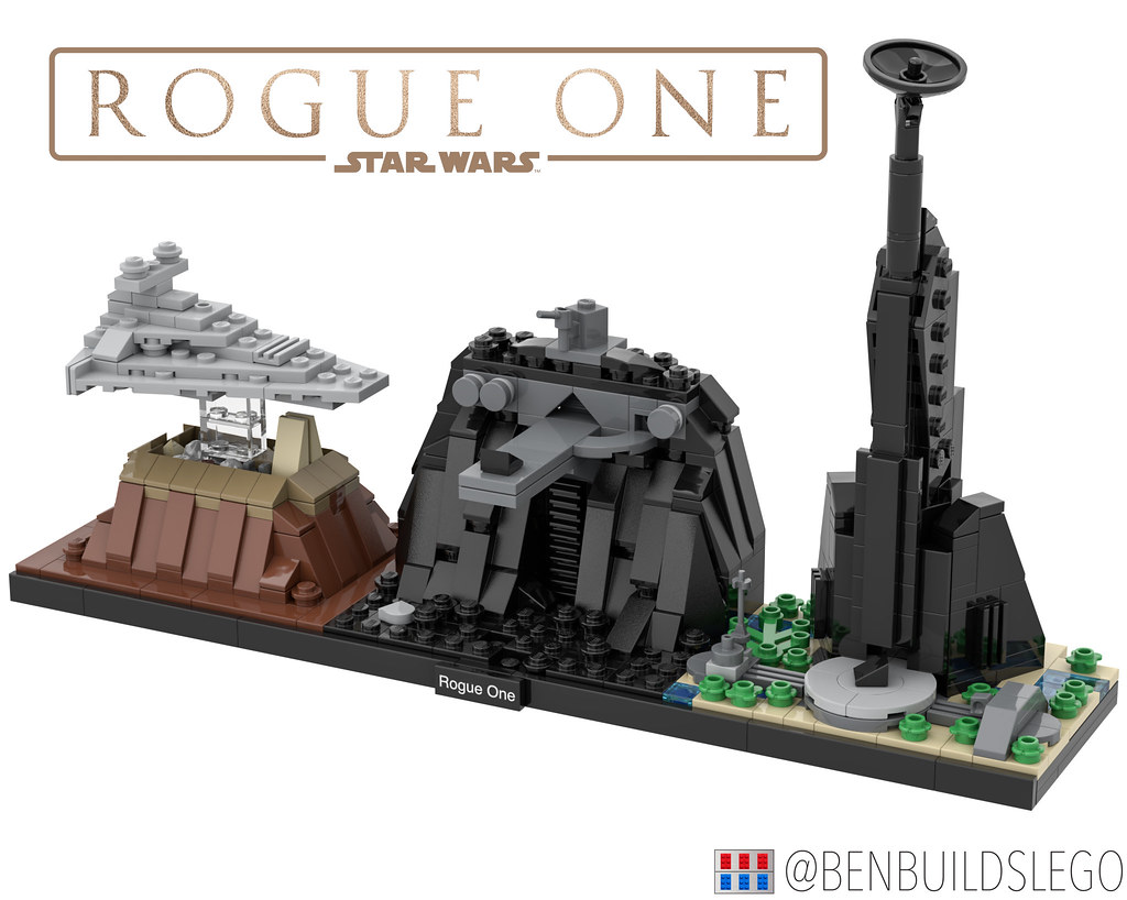 "Lego Star Wars – ""Rogue One"" Skyline MOC (custom built Lego model)"