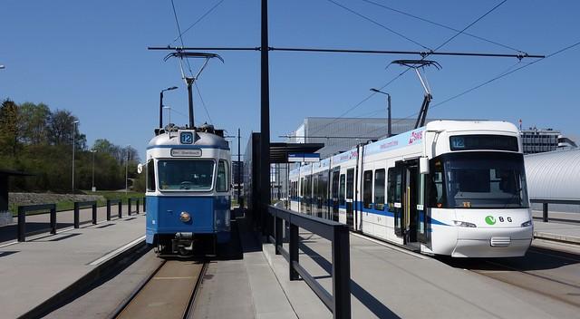 Glattalbahn trifft Museumstram - Glattalbahn meets museum tramway