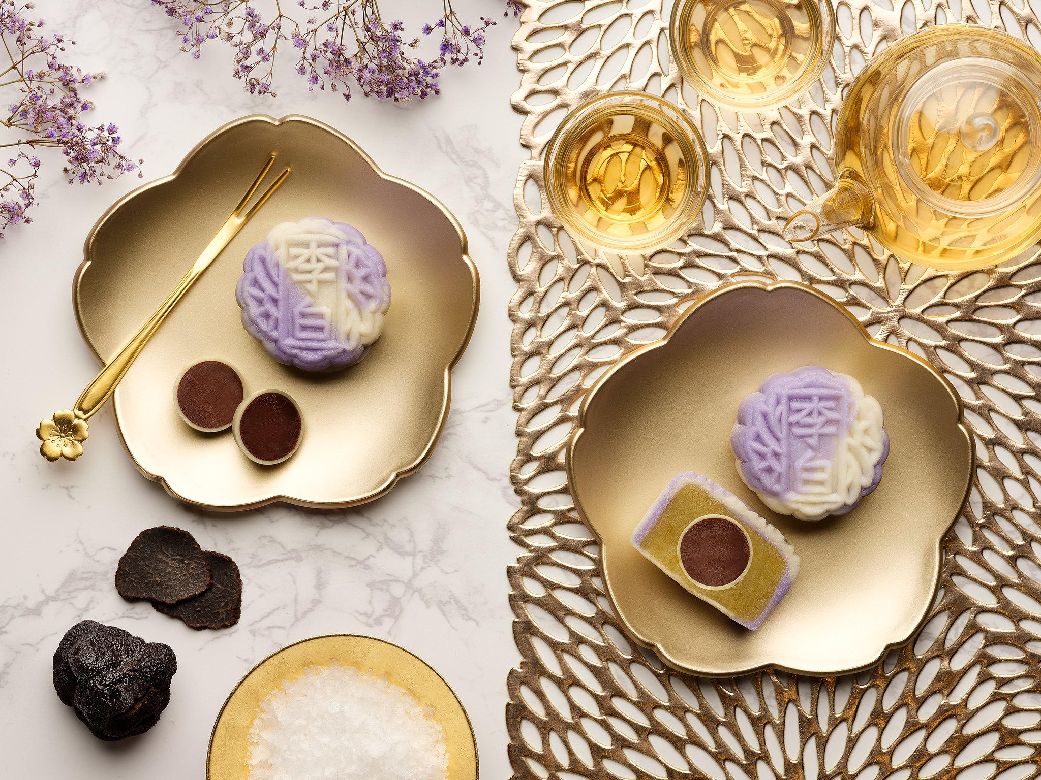 Sheraton Towers Singapore - Mini Snow Skin Sea Salt Truffle Dark Chocolate with White Lotus Seed Paste