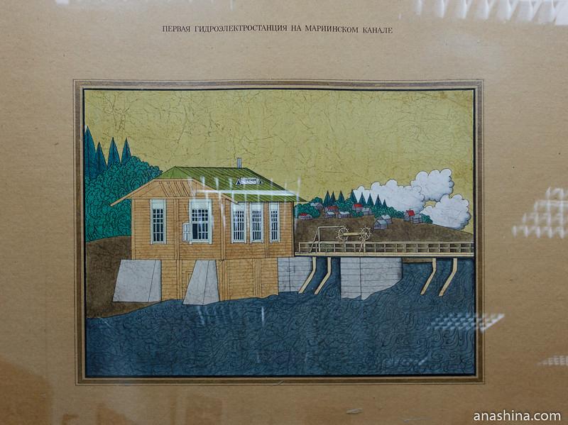 Здание машинного зала первой в Вытегре гидроэлектростанции