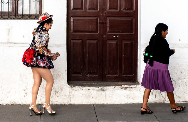 Contrasting styles. Sucre, Bolivia