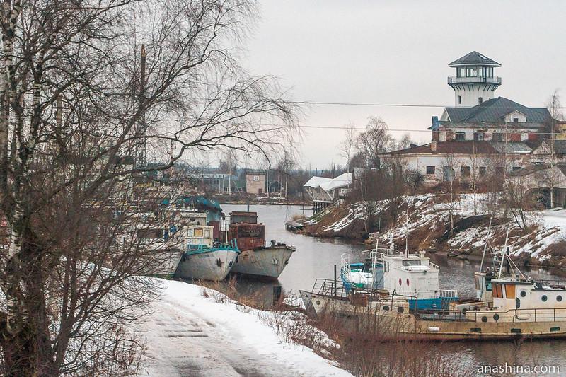 Река Вытегра зимой