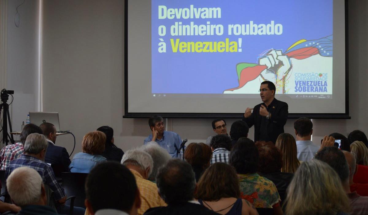 """Desde Portugal realizan acto de solidaridad denominado """"Devuelvan el dinero robado a Venezuela"""