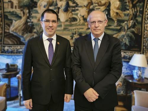 Canciller Arreaza se reúne en Lisboa con el ministro de Asuntos Extranjeros de Portugal