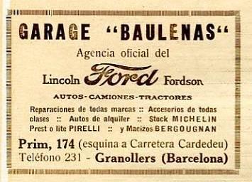 Garatge Baulenas concessionari oficial Ford