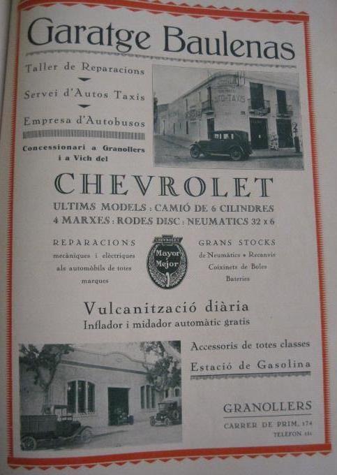 Garatge Baulenas concessionari oficial Chevrolet