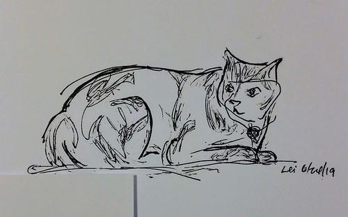 062319 pen sketch kitty