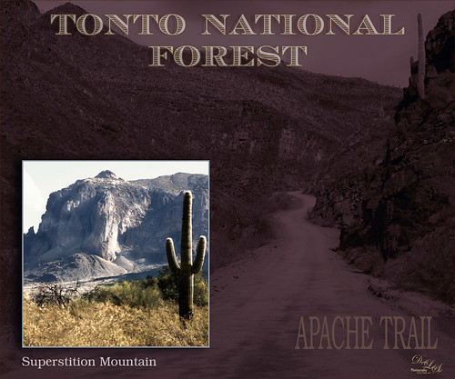 Image of Tonto National Forest and Superstition Mountain in Arizona