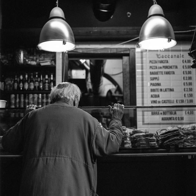 #tlrtuesday no. 115: Waiting at a counter, Rome