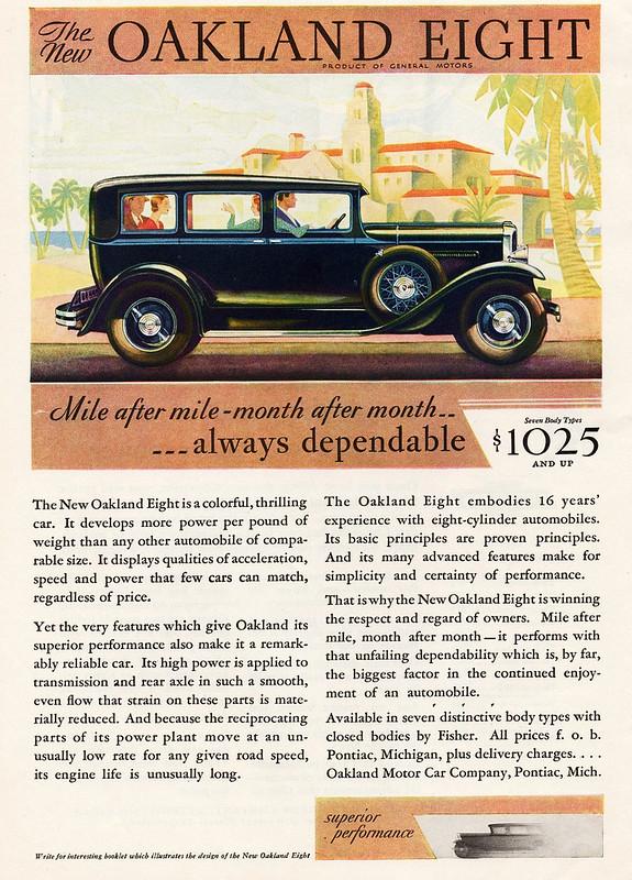 1930 Oakland Eight