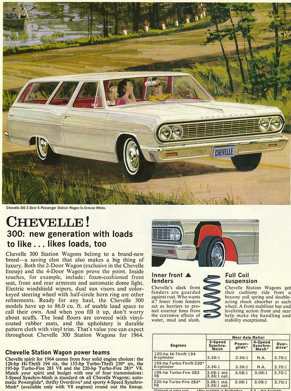 1964 Chevrolet Chevelle 300 2 Door Station Wagon