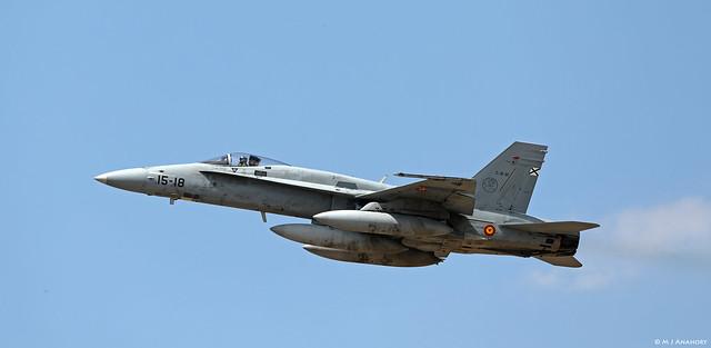 Ejército del Aire McDonnell Douglas EF-18M Hornet C.15-18/15-31, Ala 15, TLP 2019-2, Albacete AFB/LEAB