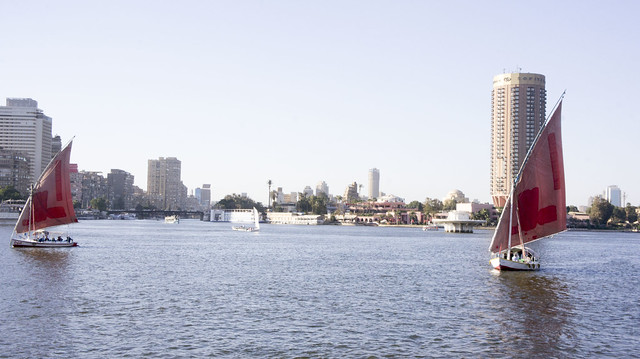 Nile boats in Cairo