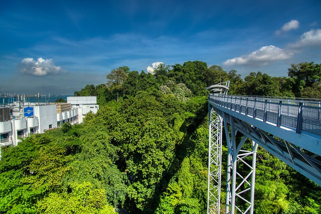 Fort Siloso skywalk on Sentosa island in Singapore