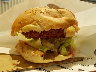 Chick'n Burger at Grassfed