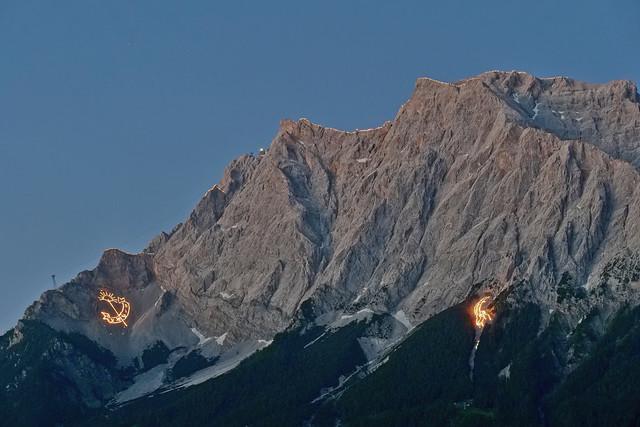 Bergfeuer Ehrwald