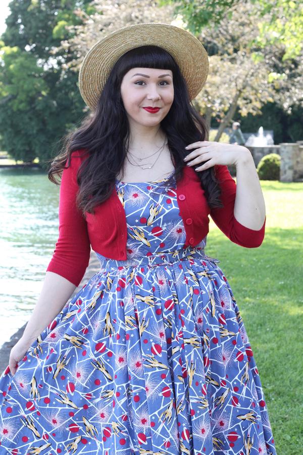 rocket print dress