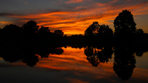 water reflection sunset sky clouds arkansas fortsmith canon6d