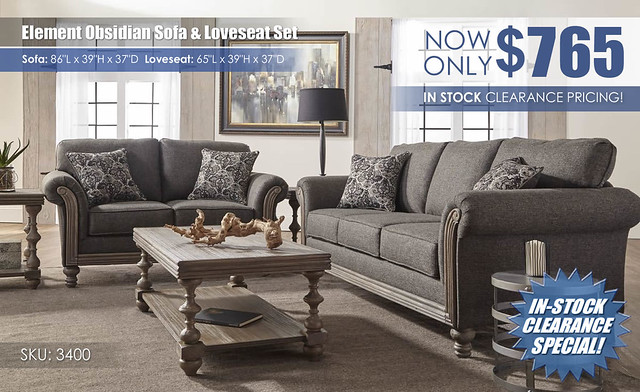 Element Obsidian Sofa & Loveseat Set_3400_Update