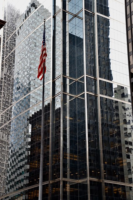 Reflections at the Citadel Center- Happy Fourth  - Chicago IL