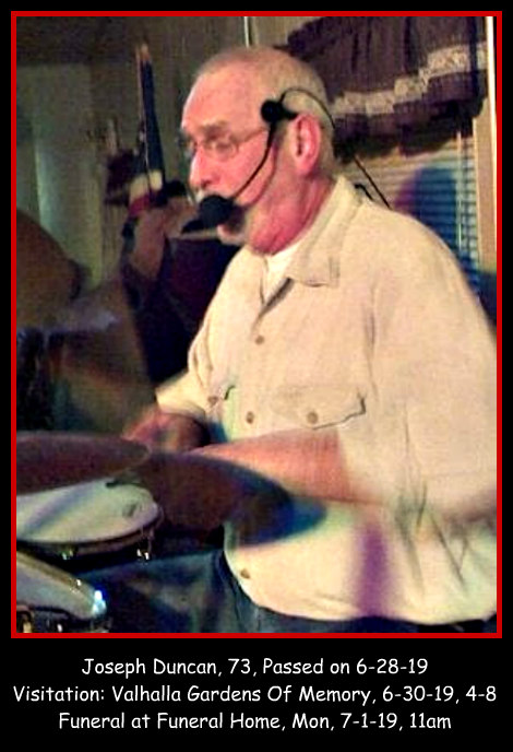Joe Duncan Obit 6-29-19