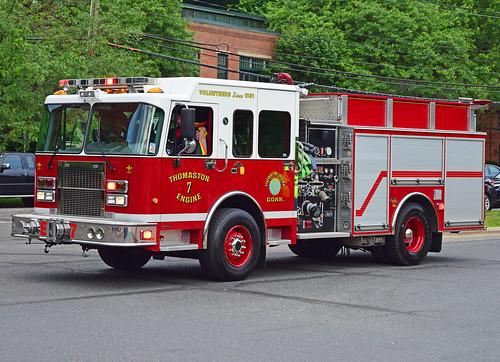 beacon falls ct parade fire truck spartan engine thomaston gowans knight