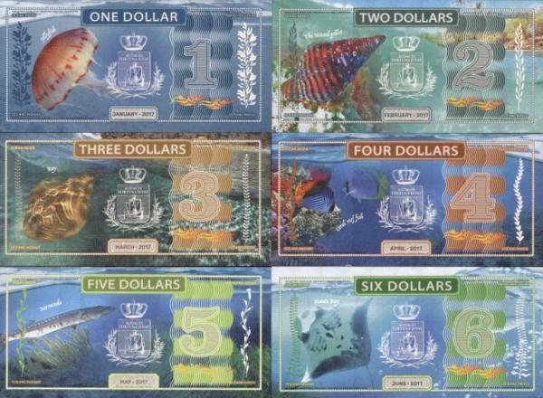 Indian Ocean 1-2-3-4-5-6 dolárov  2017