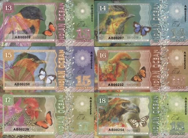 Indian Ocean 13-14-15-16-17-18 dolárov 2018