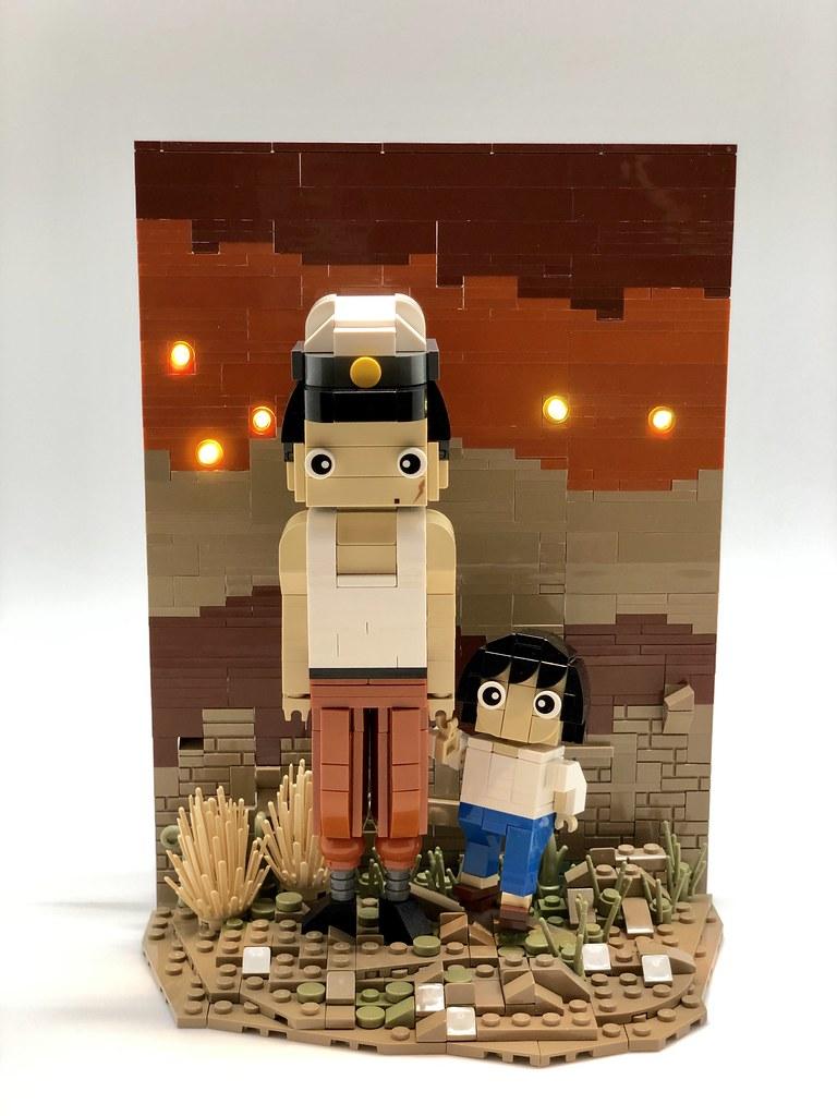 螢火蟲之墓/日語:火垂るの墓/Grave of the Fireflies (custom built Lego model)