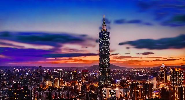 TAIWAN -  Taipei at sunset