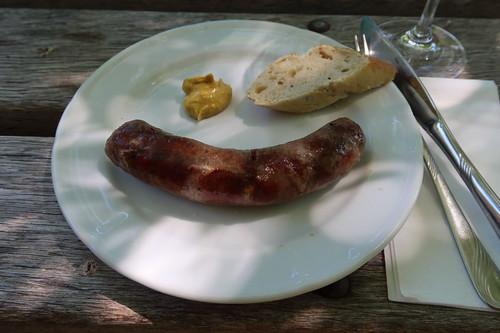 Bratwurst vom Bunten Bentheimer Landschwein - gegrillt von Helmut Backers vom Landgasthof Backers