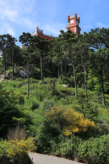 Pena Palace on the hill