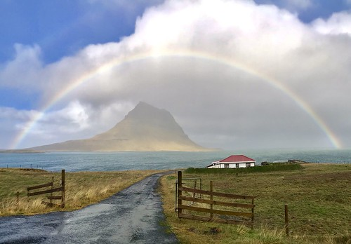 Full rainbow in snæfellsnes Peninsula