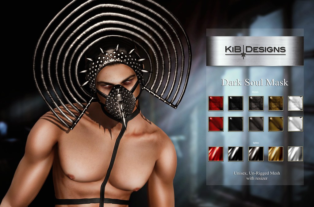 KiB Designs – Dark Soul Unisex Mask @Darkness Event
