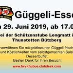 Auftritt am Guggeli-Essen Feuerwehrverein Thunstetten-Bützberg 29.06.2019