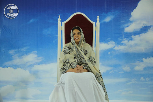 Satguru Mata Ji on the dais