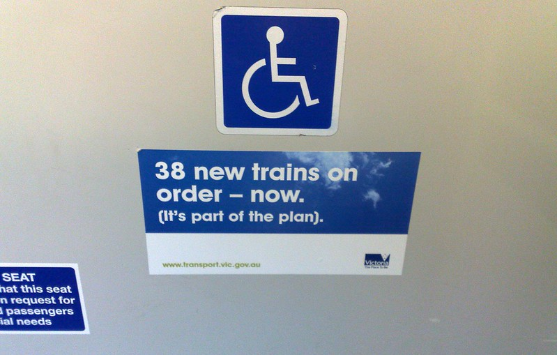 June 2009: Government advertising starts to creep into trains