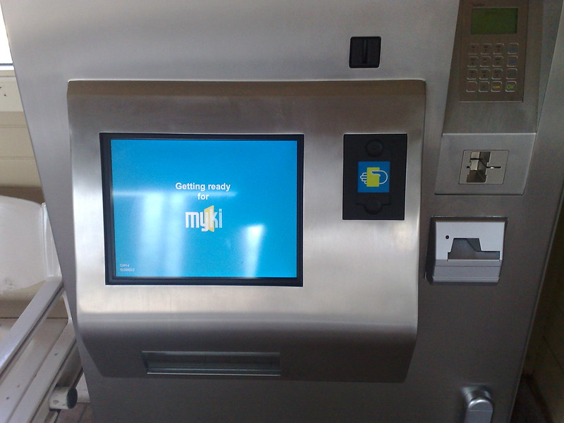 June 2009: Myki machines start to appear in stations