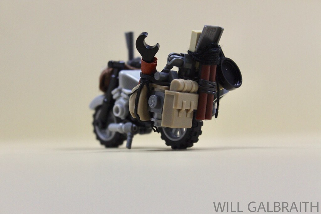 Wasteland Bike (custom built Lego model)