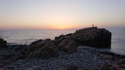 sea skåne rocks shore landscape light sunsetlight sunset sky nature naturephotography outdoors sweden scandinavia nordic