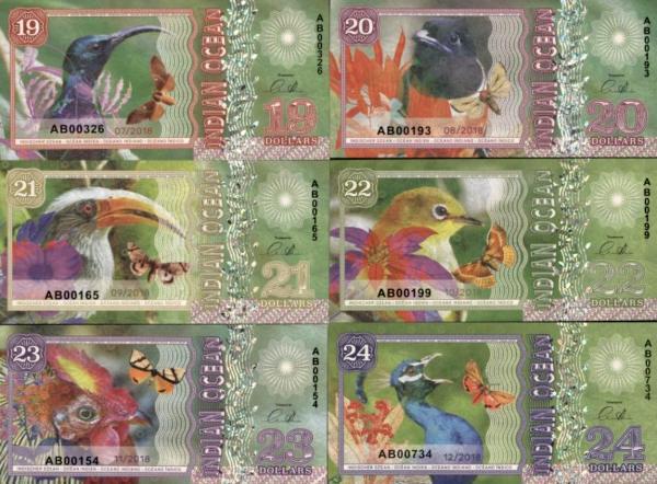 Indian Ocean 19-20-21-22-23-24 dolárov 2018