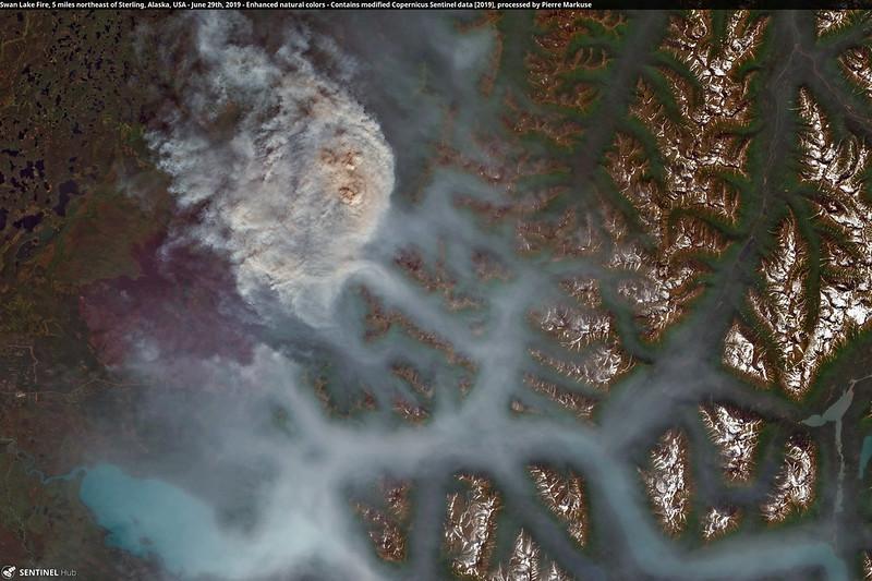 Swan Lake Fire, 5 miles northeast of Sterling, Alaska, USA - June 29th, 2019