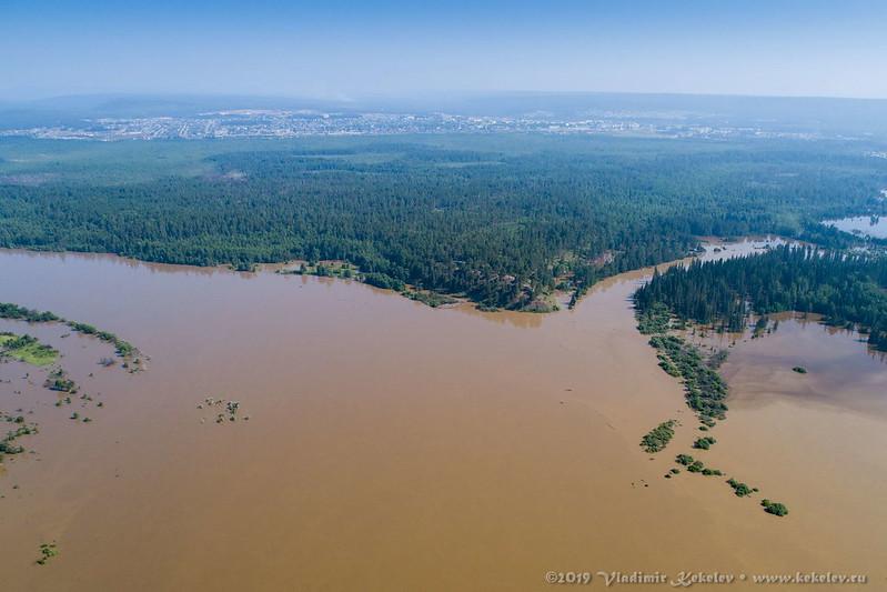 р. Чуна, Наводнение 2019 / R. Chuna, Flood 2019 •  190630_1006_DJI_0044